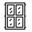 icone fenêtre carreaux
