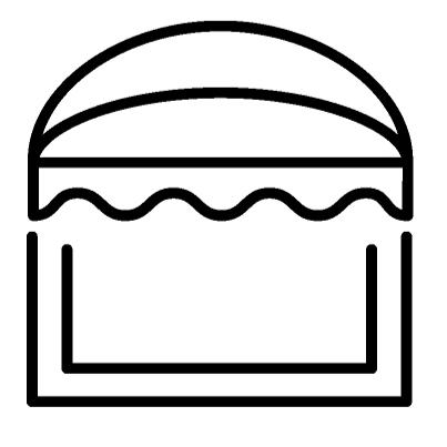 icone store corbeille